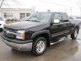 2004 Black Chevrolet Silverado 1500 Z71 Extended Cab 4x4 #47539633