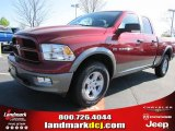 2011 Deep Cherry Red Crystal Pearl Dodge Ram 1500 SLT Outdoorsman Quad Cab 4x4 #47539156