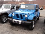 2011 Cosmos Blue Jeep Wrangler Unlimited Sahara 4x4 #47539502