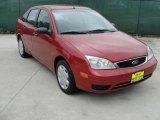 2005 Sangria Red Metallic Ford Focus ZX4 S Sedan #47539299