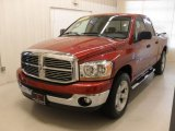2006 Inferno Red Crystal Pearl Dodge Ram 1500 SLT Quad Cab #47539545