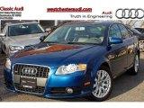 2008 Ocean Blue Pearl Effect Audi A4 2.0T Special Edition quattro Sedan #47584558