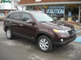 2011 Dark Cherry Kia Sorento LX AWD #47584309