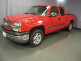 2005 Victory Red Chevrolet Silverado 1500 LS Extended Cab 4x4 #47584475
