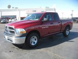 2011 Deep Cherry Red Crystal Pearl Dodge Ram 1500 ST Quad Cab 4x4 #47584498
