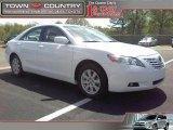 2008 Super White Toyota Camry XLE V6 #47636075