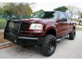 2006 Dark Toreador Red Metallic Ford F150 XLT SuperCab 4x4 #47635830