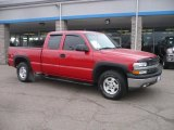 2002 Victory Red Chevrolet Silverado 1500 LS Extended Cab 4x4 #47635647