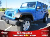 2011 Cosmos Blue Jeep Wrangler Unlimited Sport 4x4 #47635729