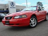 2003 Torch Red Ford Mustang V6 Convertible #47635517