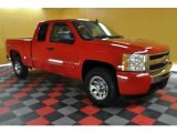 2009 Victory Red Chevrolet Silverado 1500 LT Extended Cab 4x4 #47636034