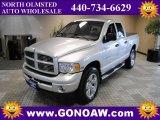 2004 Bright Silver Metallic Dodge Ram 1500 Laramie Quad Cab 4x4 #47701979