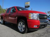 2011 Victory Red Chevrolet Silverado 1500 LT Crew Cab 4x4 #47705072