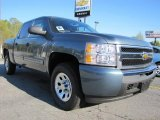 2011 Blue Granite Metallic Chevrolet Silverado 1500 LT Crew Cab 4x4 #47705075