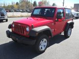 2011 Flame Red Jeep Wrangler Sport 4x4 #47705567