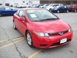 2007 Rallye Red Honda Civic EX Coupe #47705342