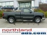2004 Dark Green Metallic Chevrolet Silverado 1500 Regular Cab 4x4 #47704754
