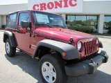 2011 Deep Cherry Red Crystal Pearl Jeep Wrangler Sport 4x4 #47705007
