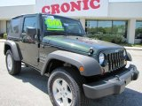 2011 Natural Green Pearl Jeep Wrangler Sport S 4x4 #47705008