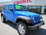 2011 Cosmos Blue Jeep Wrangler Unlimited Sport 4x4 #47705010