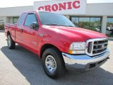 2004 Red Ford F250 Super Duty XLT SuperCab #47705011