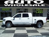 2007 Bright White Dodge Ram 3500 Laramie Mega Cab 4x4 Dually #47705200