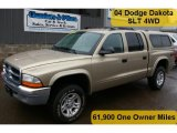 2004 Light Almond Pearl Metallic Dodge Dakota SLT Quad Cab 4x4 #47705025