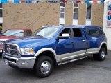 2010 Deep Water Blue Dodge Ram 3500 Laramie Crew Cab 4x4 Dually #47705721