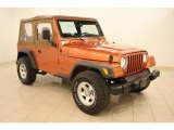 2001 Jeep Wrangler Amber Fire Pearl