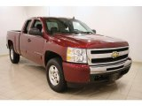 2009 Deep Ruby Red Metallic Chevrolet Silverado 1500 LT Extended Cab #47705460