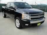 2007 Black Chevrolet Silverado 1500 LT Crew Cab #47767220