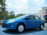 2012 Blue Candy Metallic Ford Focus SE SFE Sedan #47767066