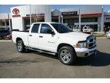 2005 Bright White Dodge Ram 1500 SLT Quad Cab 4x4 #47766875