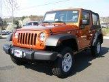 2011 Mango Tango Pearl Jeep Wrangler Sport 4x4 #47767539