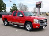 2008 Victory Red Chevrolet Silverado 1500 LT Extended Cab 4x4 #47766903