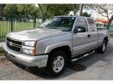 2006 Silver Birch Metallic Chevrolet Silverado 1500 Z71 Extended Cab 4x4 #47767193