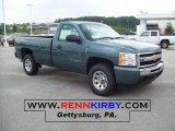 2011 Steel Green Metallic Chevrolet Silverado 1500 Regular Cab #47767400