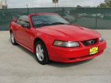 2003 Torch Red Ford Mustang V6 Convertible #47767219