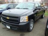 2011 Black Chevrolet Silverado 1500 Extended Cab #47831251