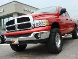 2005 Flame Red Dodge Ram 1500 SLT Quad Cab 4x4 #47831153