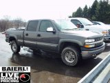 2002 Medium Charcoal Gray Metallic Chevrolet Silverado 1500 LT Crew Cab 4x4 #47831070