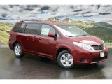 2011 Salsa Red Pearl Toyota Sienna LE #47831083