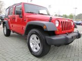 2010 Jeep Wrangler Unlimited Flame Red