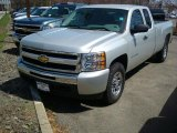 2011 Sheer Silver Metallic Chevrolet Silverado 1500 LS Extended Cab 4x4 #47866620