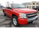 2007 Victory Red Chevrolet Silverado 1500 LT Extended Cab 4x4 #47866636