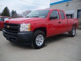 2011 Victory Red Chevrolet Silverado 1500 Extended Cab 4x4 #47866676