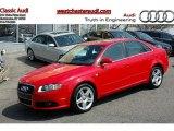 2008 Brilliant Red Audi A4 2.0T quattro S-Line Sedan #47866990