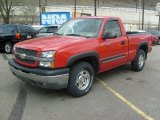 2004 Victory Red Chevrolet Silverado 1500 LS Regular Cab 4x4 #47906176