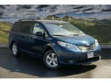 2011 South Pacific Blue Pearl Toyota Sienna LE #47905591