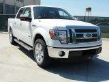 2011 White Platinum Metallic Tri-Coat Ford F150 Lariat SuperCrew #47906012